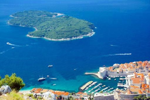 L'île de Lokrum en Croatie