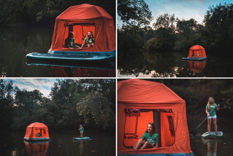 Shoal Tent, tente gonflable flottante