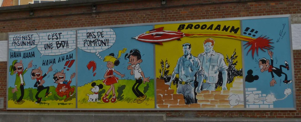 Visite Bruxelles mur BD Voyage Booktrip
