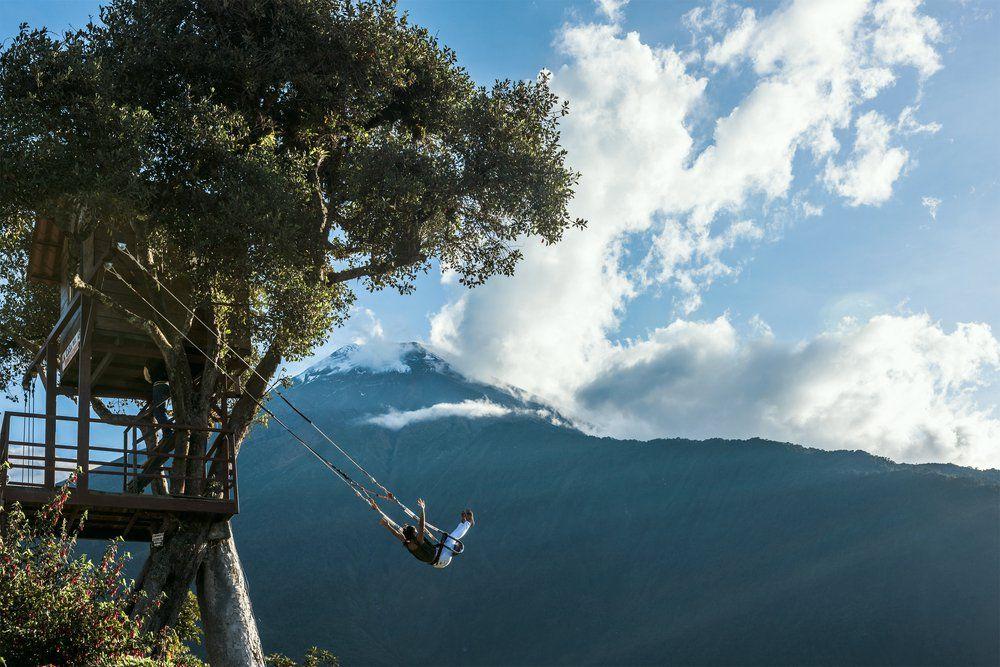 Balançoire bout du monde Voyage Equateur Booktrip
