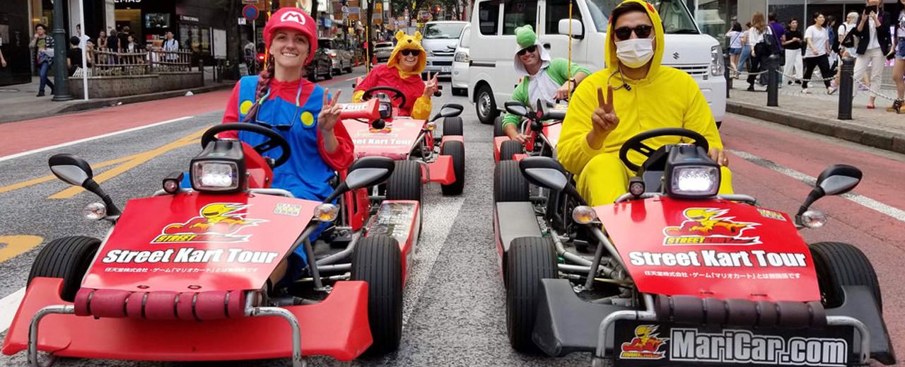 Voyage Japon Tokyo Mario Kart Booktrip